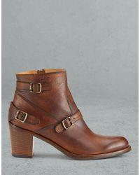Belstaff Trialmaster Short Leather Boots - Brown