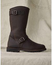 Belstaff Endurance Leather Motorcycle Boots - Black