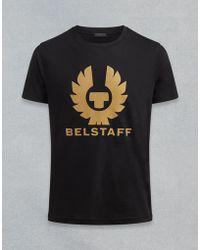 Belstaff - T-shirt Aus Baumwolljersey Mit Logodruck - Lyst