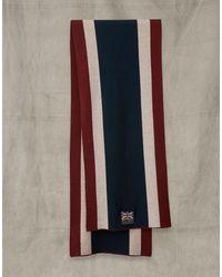 Belstaff Britannia Stripe Scarf - Blue
