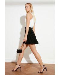 Bemushop Ruffle Black Skirt