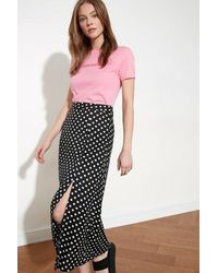 Bemushop Polka-dot Black Skirt