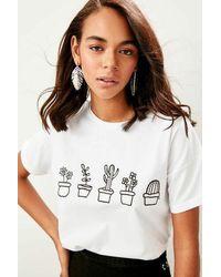 Bemushop Printed White T-shirt