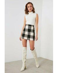 Bemushop Chequered Black Skirt