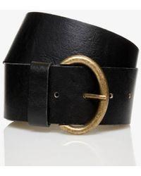 Benetton Cinturón De Piel - Negro