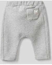 Benetton Pantalón De Algodón Orgánico Elástico - Gris