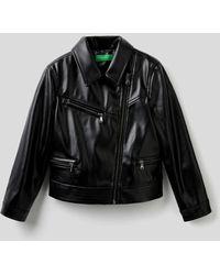 Benetton Cazadora Biker - Negro
