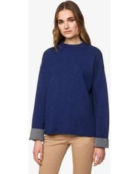 Benetton - Pull Col Montant Réversible - Lyst