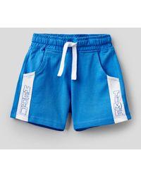 Benetton - Pantalón Corto De 100% Algodón - Lyst
