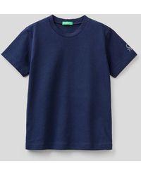 Benetton - Camiseta De Algodón Orgánico Con Estampado De Logotipo - Lyst