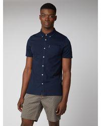 Ben Sherman - Button Through Jersey Shirt - Lyst