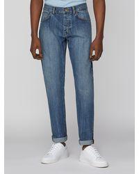 Ben Sherman 5 Pocket Light Wash Slim Jean - Blue