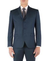 Ben Sherman - Teal Pick And Pick Camden Fit Suit Jacket - Lyst