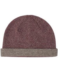 Ben Sherman - Panelled Knitted Hat - Lyst