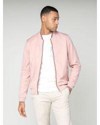 Ben Sherman Pink Tricot Bomber Jacket