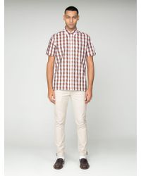 Ben Sherman Short Sleeve Archive Groton Jacquard Shirt - Multicolour
