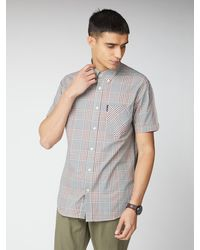 Ben Sherman Red Mixed Scale Short Sleeve Check Shirt - Multicolour