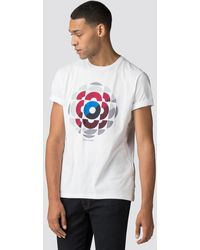 Obey Target Practice Ringer Tee in White for Men - Lyst