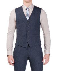 Ben Sherman | Winter Blue Donegal Camden Fit Waistcoat | Lyst