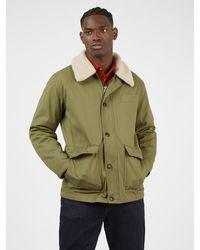 Ben Sherman Green Hemp Workers Coat