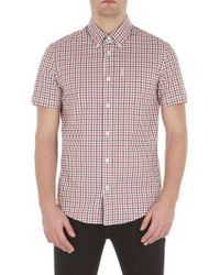 Ben Sherman - Short Sleeve Mid Scale House Gingham Shirt - Lyst