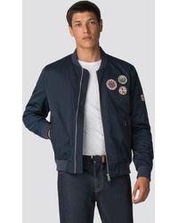 78650f6c Sateen Badge Bomber Jacket - Blue