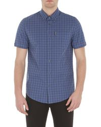 Ben Sherman - Short Sleeve Mid Scale House Gingham - Lyst
