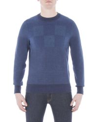 Ben Sherman - Checkerboard Crew Neck Jumper - Lyst