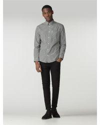Ben Sherman Black Long Sleeve Gingham Shirt
