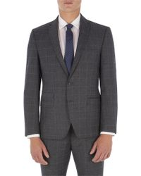 Ben Sherman - Grey With Blue Overcheck Camden Fit Jacket - Lyst