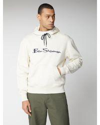 Ben Sherman Embroidered Logo Hoodie - Blue