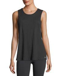 Alo Yoga - Cotton-blend Tidal Muscle Tank - Lyst