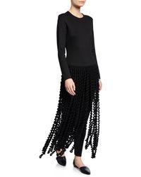 aae6cecfc1b Lyst - Donna Karan Sleeveless Spiral-draped A-line Dress in Black