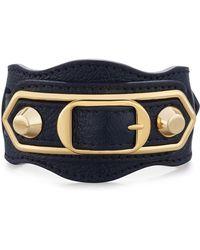 Balenciaga - Metallic Edge Leather Belt-style Bracelet - Lyst