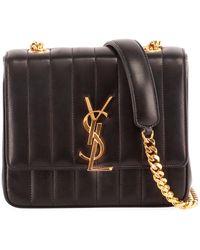 6c68b45c47 Saint Laurent - Vicky Medium Ysl Monogram Chain Crossbody Bag - Lyst