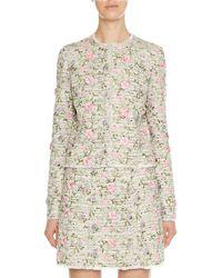 Giambattista Valli - 3d Floral-embroidered Tweed Jacket - Lyst
