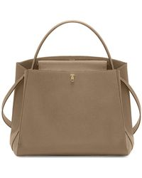 Valextra - Triennale Large Leather Top-handle Bag - Lyst