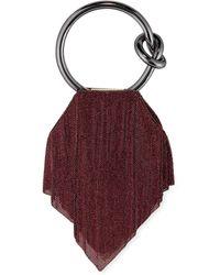 Benedetta Bruzziches Casper Metal Mesh Clutch Bag - Pink