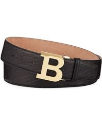 Bally - Men's Stamped Leather Belt - Lyst