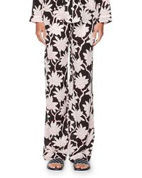 Valentino - Rhododendron-print Pajama Pants - Lyst