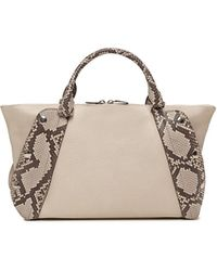 Akris - Aimee Small Bicolor Leather & Python Satchel Bag - Lyst