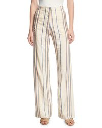 Zero + Maria Cornejo - Eda Stripe Wide-leg Pants - Lyst