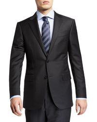 Ermenegildo Zegna Men's Trofeo Milano Two-piece Wool Suit - Black