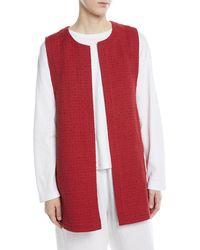 Eskandar - Imperial Linen-blend Waist Coat - Lyst
