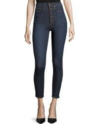 AO.LA by alice + olivia - High-rise Exposed Buttons Skinny Jeans - Lyst
