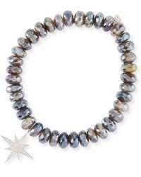 Sydney Evan - Labradorite Bead Bracelet W/ Starburst Charm - Lyst