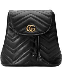5b755468f3bf Gucci - GG Marmont Chevron-quilted Leather Backpack - Lyst