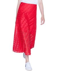 Akris - Long Lips Embroidery Skirt - Lyst