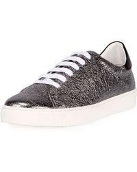 Anya Hindmarch | Crinkled Metallic Leather Tennis Sneaker | Lyst