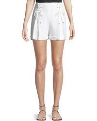 Club Monaco - Ditmas Lace-up Cuffed Shorts - Lyst 3b19c6008